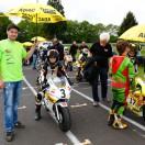 Motorsportler Florian Weiß (Raceflo) am Start in Wittgenborn zum ADAC Mini Bike Cup - mit David Datzer