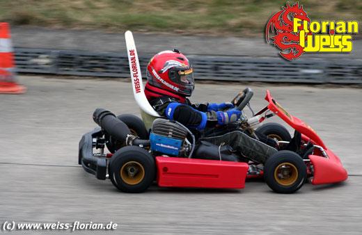Florian Weiß Rennkart mit leistungsgesteigertem Motor