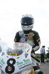 Florian Weiß Raceflo vor dem Start in Cheb Tschechien