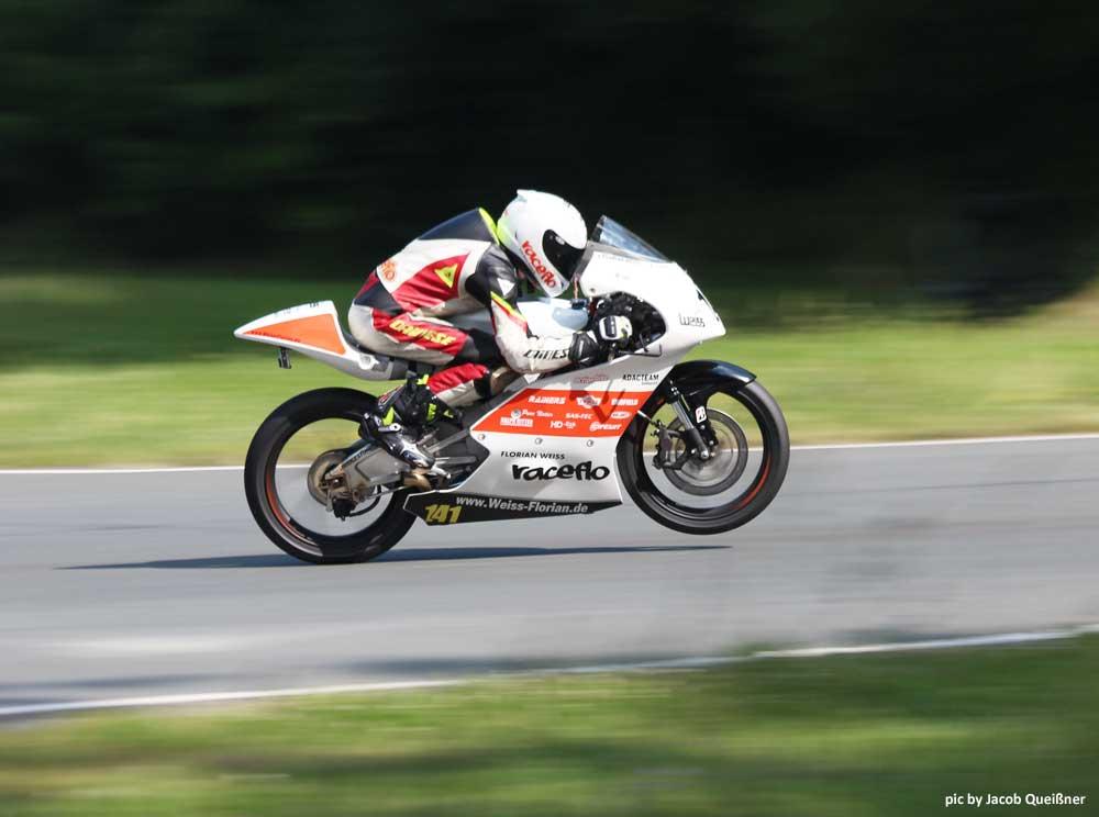 Florian Weiss, Raceflo, auf der Moto3 in Schleiz