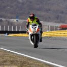 Raceflo Florian Weiss anbremsen mit Yamaha R6 in Rijeka