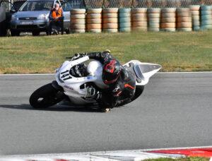 Raceflo Florian Weiß mit Yamaha R6 auf Rennstrecke in Rijeka